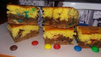 Photo of Prajitura in 2 culori cu M&M