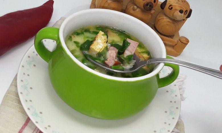 Photo of Supa de salata verde cu afumatura si omleta