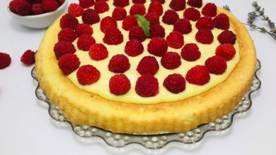 Photo of Tarta cu zmeura si crema de mascarpone