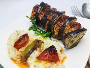 Patlican kebab cu carne de porc