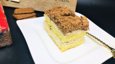 Photo of Prajitura Picnic cu crema de biscuiti